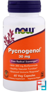 Pycnogenol, Now Foods, 30 mg, 60 Veg Capsules