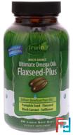 Ultimate Omega Oils, Flaxseed-Plus, Irwin Naturals, 90 Liquid Soft-Gels