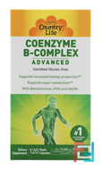 Coenzyme B-Complex, Advanced, Country Life, 120 Vegetarian Capsules