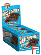 Muscle Brownie, Triple Chocolate, Lenny & Larry's, 12 Brownies, 2.29 oz (65 g) Each