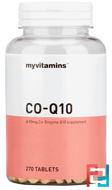 Co-Q10, Myvitamins, 3 Months, 30 mg, 270 tablets