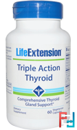 Triple Action Thyroid, Life Extension, 60 Veggie Caps