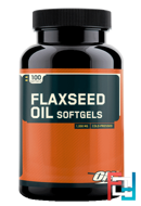 Flaxseed Oil Softgels, Optimum Nutrition, 100 capsules