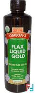 Omega-3, Flax Oil, Liquid Gold, Health From The Sun, 16 fl oz (473 ml)