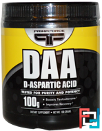 DAA, D-Aspartic Acid, Primaforce, 100 g