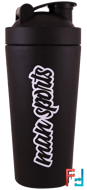 Metal Shaker, Black, MAN Sports, 25 oz