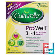 Pro-Well, 3-in-1 Complete Formula, Culturelle, 30 Capsules