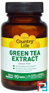 Green Tea Extract, Country Life, 90 Tablets