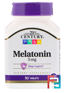 Melatonin, 21st Century, 3 mg, 90 Tablets