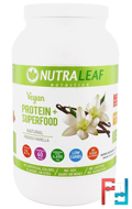 Vegan Protein + Superfood, Natural French Vanilla, NutraLeaf Nutrition, 35.4 oz (1005 g)
