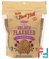 Whole Golden Flaxseed, 1Bob's Red Mill, 3 oz, 368 g