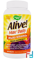 Alive! Max3 Daily, Multi-Vitamin, Nature's Way, 180 Tablets
