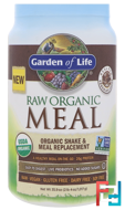 Shake & Meal Replacement, Chocolate Cacao, Garden of Life, Raw Organic Meal, 35.9 oz (1,017g)