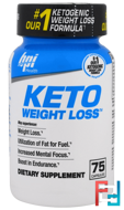 Keto Weight Loss, BPI Sports, 75 Capsules