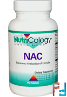 NAC, Nutricology, 200 mg, 90 Tablets