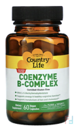 Coenzyme B-Complex Caps, Country Life, 60 Vegetarian Capsules