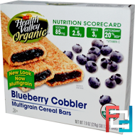 Organic Multigrain Cereal Bars, Blueberry Cobbler, Health Valley, 6 Bars, 37 g Each