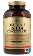 Omega-3 Fish Oil Concentrate, Solgar, 240 Softgels