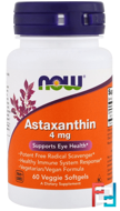 Astaxanthin, Now Foods, 4 mg, 60 Veggie Softgels