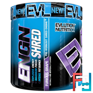 ENGN Shred, Pre-Workout Shred Engine, Furious Grape, EVLution Nutrition, 7.8 oz (222 g)