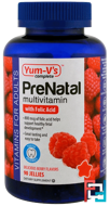 PreNatal Multivitamin with Folic Acid, Berry Flavors, Yum-V's, 90 Jellies