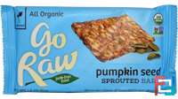 Organic, Pumpkin Seed Sprouted Bar, Go Raw, 1.8 oz (51 g)