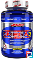 Omega-3 Fish Oil, Ultra-Pure Cold-Water Fish Oil, ZERO-GMO, ZERO-Gluten, ALLMAX Nutrition, 180 Softgels