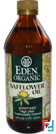 Organic Safflower Oil, Unrefined, Eden Foods, 16 fl oz (473 ml)