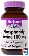 Phosphatidyl Serine, Bluebonnet Nutrition, 100 mg,  60 Softgels