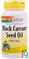 Black Currant Seed Oil, 600 mg, Solaray, 90 Softgels