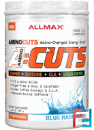 AMINOCUTS (ACUTS), Weight-Loss BCAA (CLA + Taurine + Green Coffee), Blue Raspberry, ALLMAX Nutrition, 525 g
