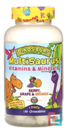 MultiSaurus, Berry, Grape & Orange, KAL, 180 Chewables