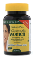 Source of Life, Women, Multi-Vitamin and Mineral Supplement, Nature's Plus, 60 Tablets