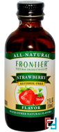 Strawberry Flavor, Alcohol-Free, Frontier Natural Products, 2 fl oz, 59 ml