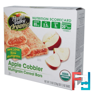 Organic Multigrain Cereal Bars, Apple Cobbler, Health Valley, 6 Bars, 1.3 oz Each