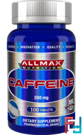 Caffeine, ALLMAX Nutrition, 200 mg, 100 Tablets