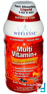 Multi Vitamin+, Sugar Free, Natural Citrus Flavor, Wellesse Premium Liquid Supplements, 16 fl oz, 480 ml