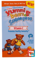 Yummi Bears, Sugar Free, Vitamin C, All Natural Fruit Flavors & Colors, Hero Nutritional Products, 60 Gummy Bears