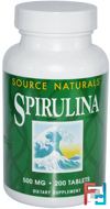 Spirulina, Source Naturals, 500 mg, 200 Tablets