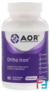Ortho-Iron, Advanced Orthomolecular Research AOR, 60 Veggie Caps