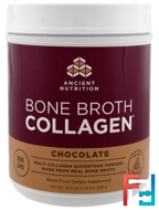 Bone Broth Collagen, Chocolate, Dr. Axe / Ancient Nutrition, 18.6 oz (528 g)