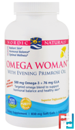 Omega Woman, With Evening Primrose Oil, Nordic Naturals, 830 mg, 120 Soft Gels