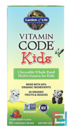 Vitamin Code, Kids, Chewable Whole Food Multivitamin for Kids, Cherry Berry, Garden of Life, 60 Chewable Bears
