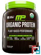 Organic Protein, Plant-Based Performance, Chocolate, MusclePharm Natural, 1.35 lbs (611 g)