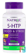 5-HTP, Wild Berry Flavor, Natrol, 100 mg, 30 Tablets