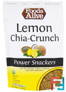 Power Snackers, Lemon Chia-Crunch, Foods Alive, 3 oz (85 g)
