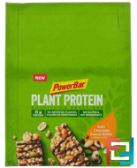 Plant Protein, Dark Chocolate Peanut Butter, PowerBar, 15 Bars, 1.76 oz (50 g) Each