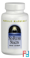 No-Flush Niacin, 500 mg, Source Naturals, 60 Tablets
