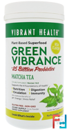 Green Vibrance +25 Billion Probiotics, Version 16.0, Matcha Tea, Vibrant Health, 11.88 oz (336.75 g)