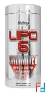 Lipo-6 Unlimited, Nutrex Research Labs, (INT), 120 Capsules